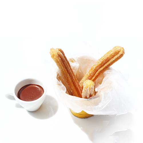 Mini churro al chocolate